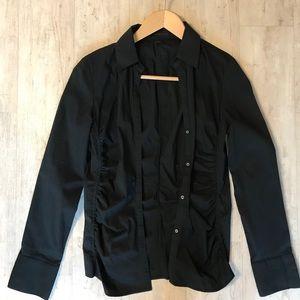 Express Black button down dress shirt